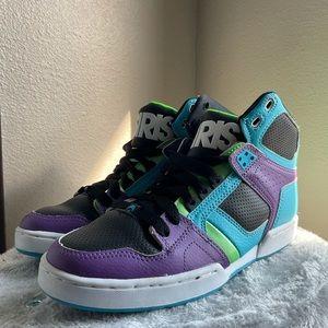 Osiris Green Purple Blue NYC 83 SLM skate sneaker